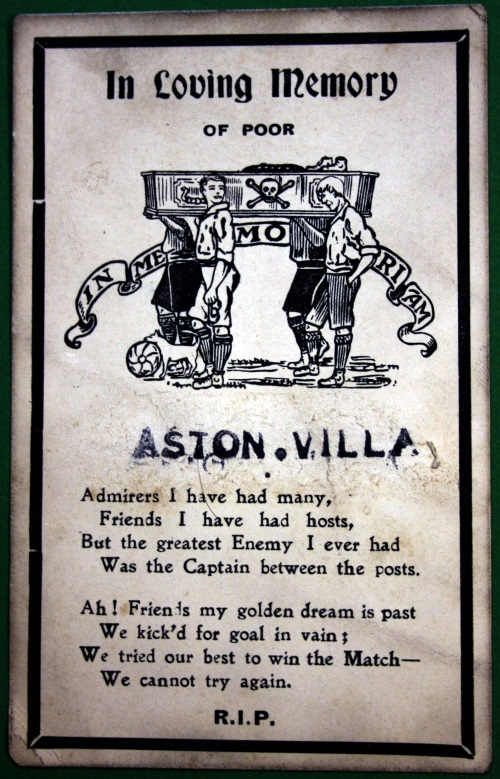 1903 Aston Villa Memorial Postcard