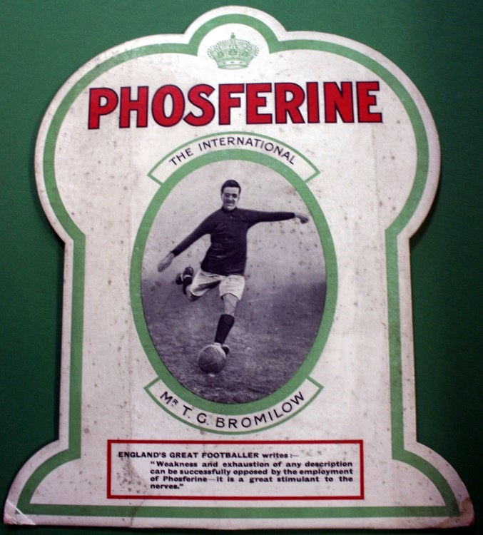 England's Greatest Footballer - Mr T G Bromilow Phosferine Advert