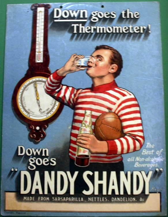Dandy Shandy Football Advertisement c1920