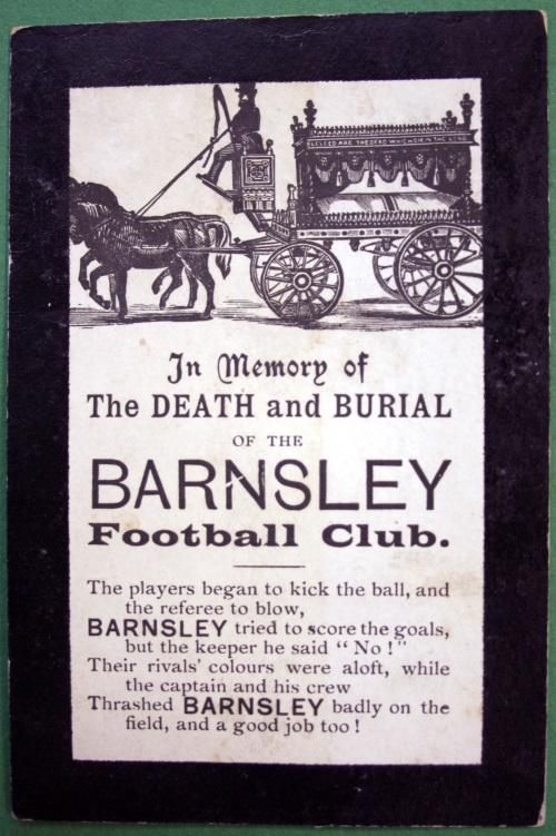 Barnsley FC Memorial Postcard