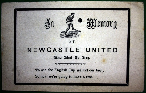 Newcastle United Memorial Postcard