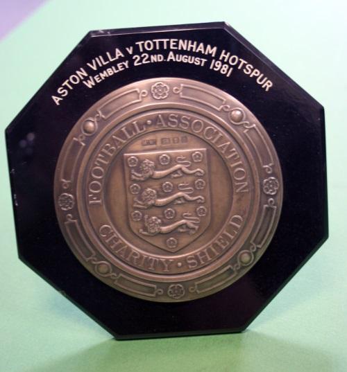 Ricardo Villa Plaque Charity Shield August 1981