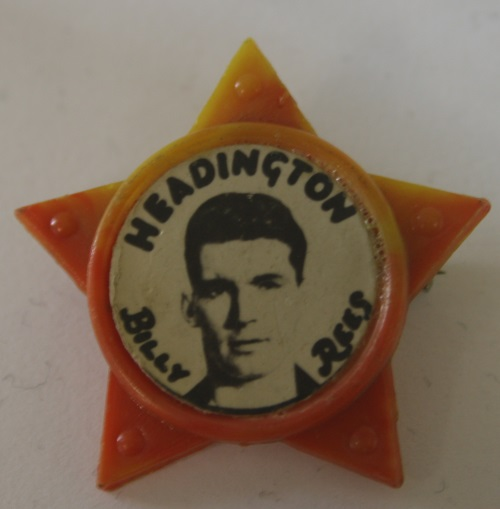 Billy Rees Headington United Star Badge