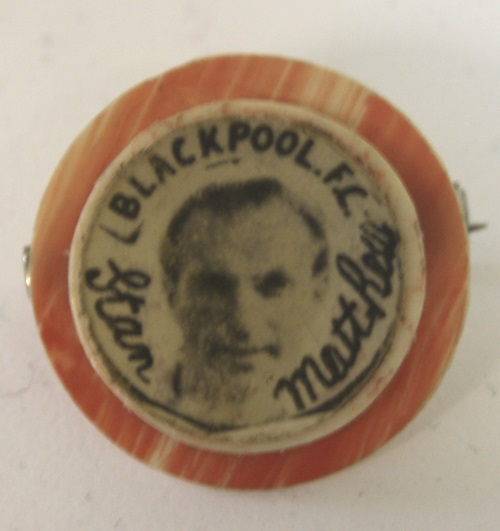 Stanley Matthews Blackpool Star Badge