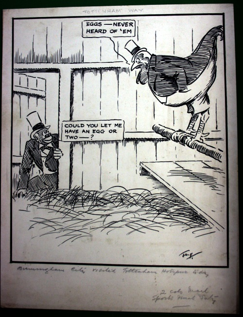 T W Ellison Tottenham Way Football Cartoon