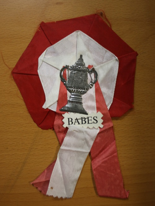 Busby Babes Rosette Purchased Wembley 1958