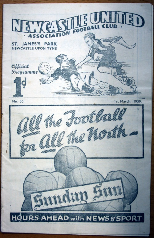Newcastle United AFC Programme 1st March 1939