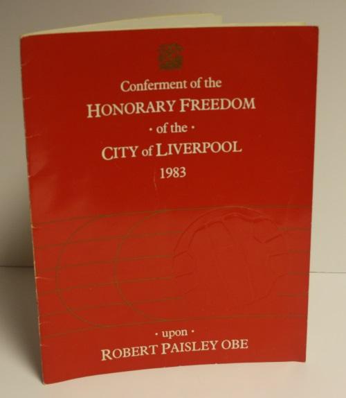 Signed Bob Paisley Programme