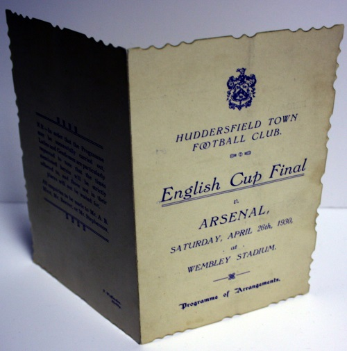 Huddersfield Town v Arsenal Cup Final Programme 1930