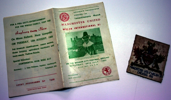 Manchester United v Welsh XI Programme & Patch