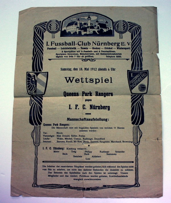QPR v IFC Nurnberg 1912 Official Poster