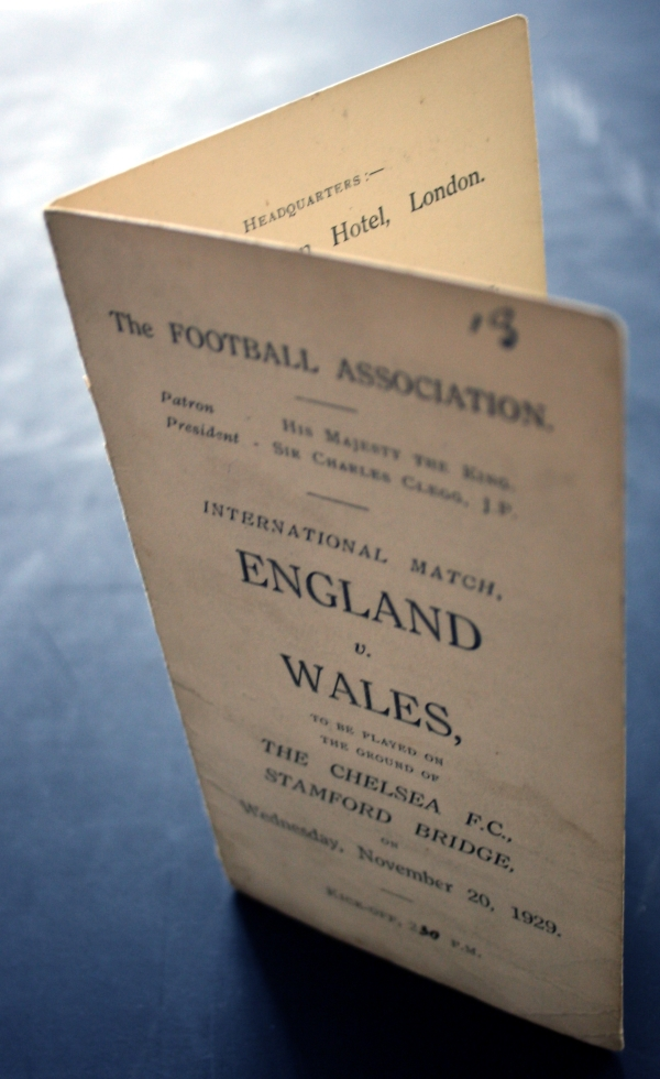 England v Wales November 1929 Player Schedule