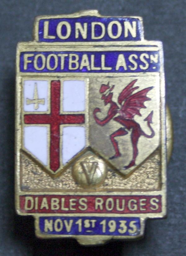 1935 London Football Association Diables Rouges