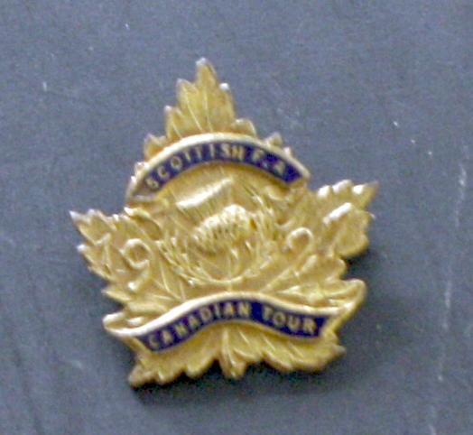 Scottish FA 1927 Canada Tour Badge