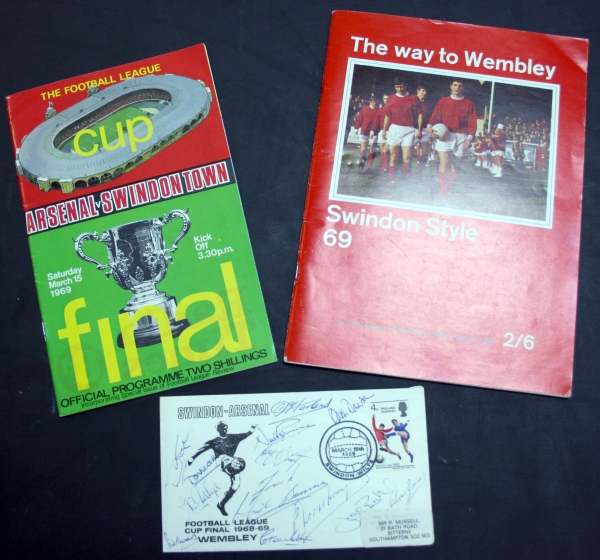 Swindon Town 1969 League Cup Final Programme