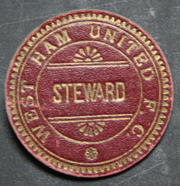 Vintage West Ham Stewards Badge