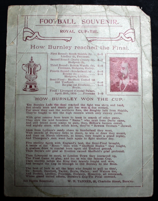 How Burnley Reached The Final 1914 Souvenir