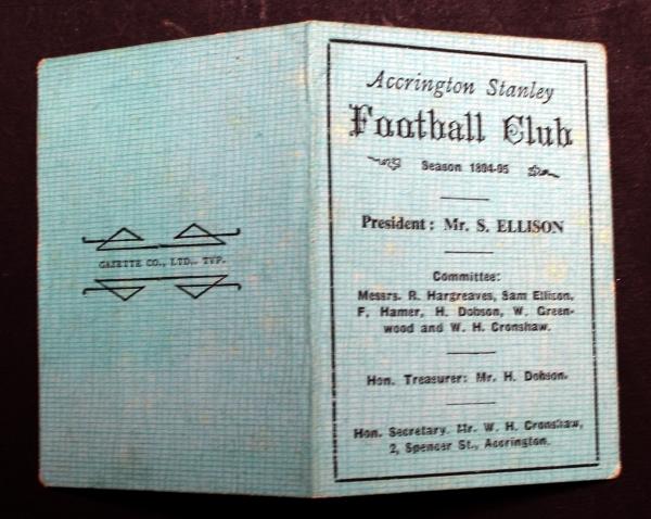 Victorian Accrington Stanley memorabilia