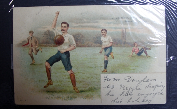 Derby County Chromo Postcard Circa 1900
