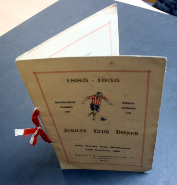 Southampton FC 1935 Jubilee Club Dinner Menu