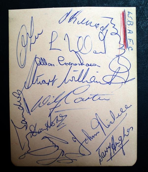 West Brom Autograph Card Circa 1950