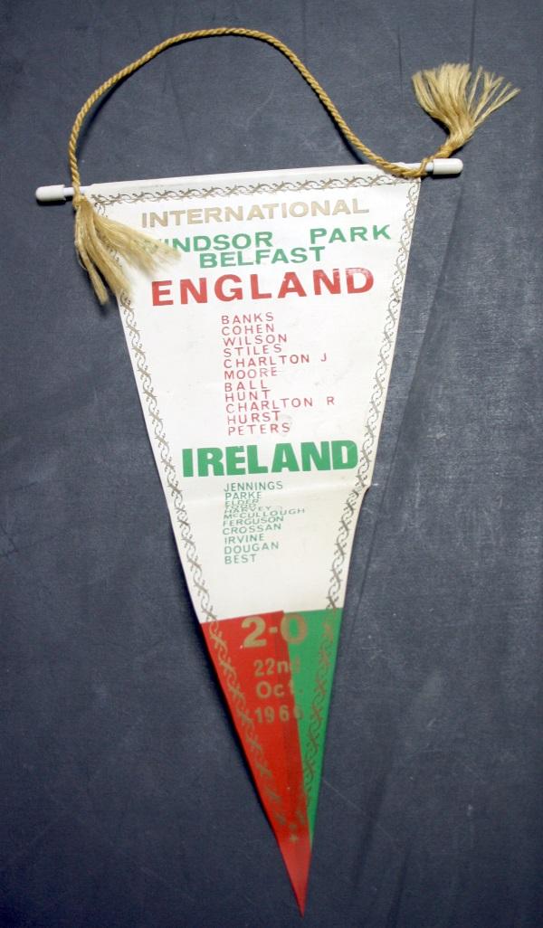 Northern Ireland football memorabilia collector