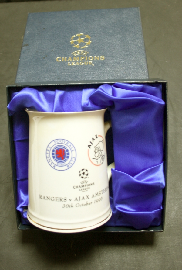 Glasgow Rangers Champions League memorabilia collector