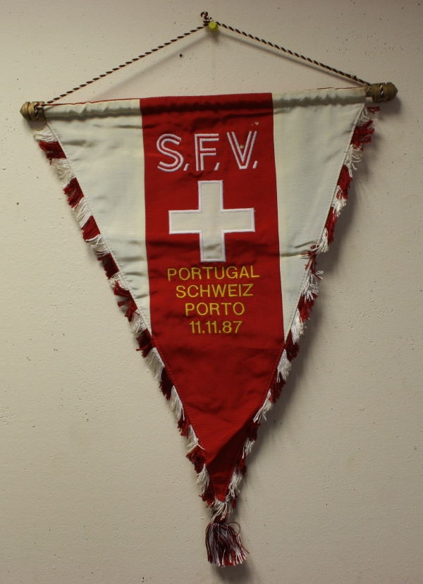 Portugal vs Switzerland 1987 Official Handover Pennant