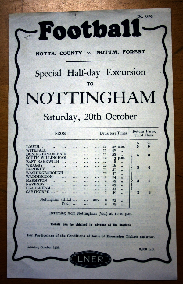 LNER Football Excursion Poster - October 1928