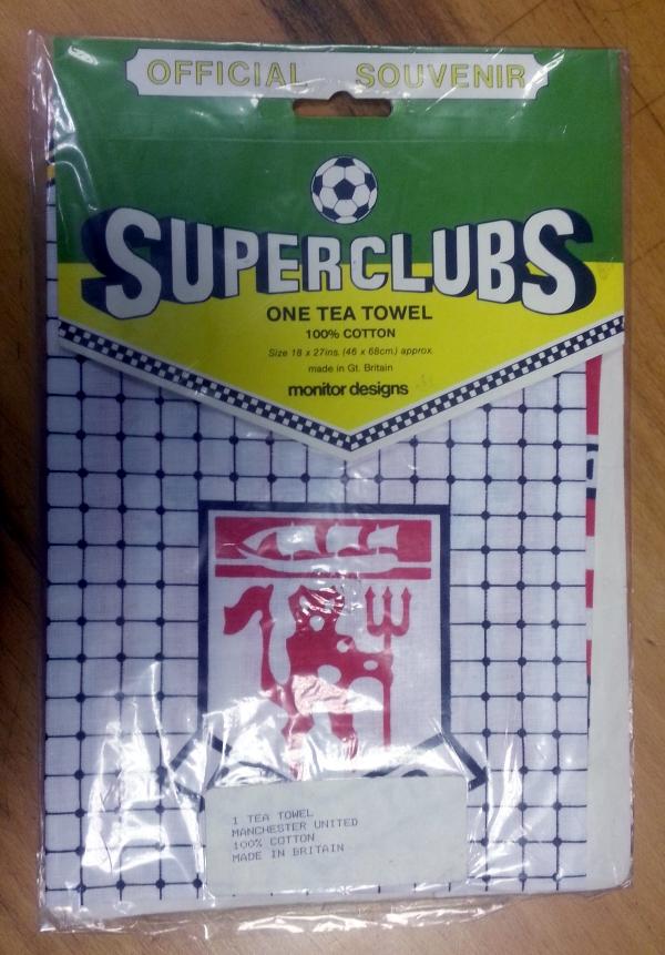 1960s Man United Superclubs Tea Towel