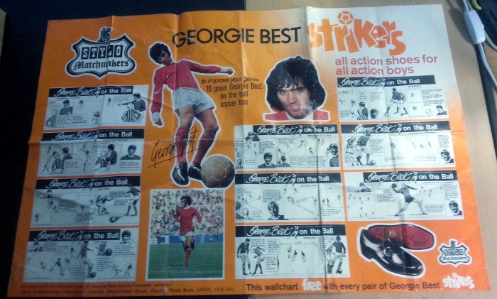 George Best Strikers Shoes Poster