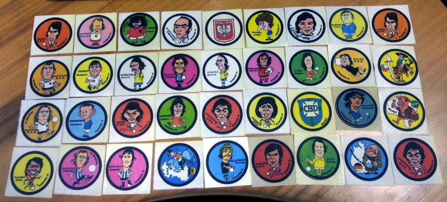Munich '74 - 36 Unused Caricature Stickers