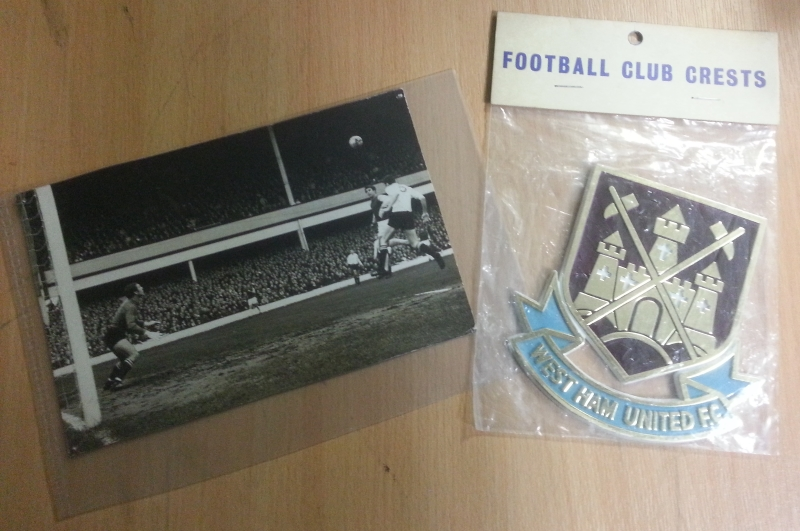 Vintage West Ham Club Crest & Photograph