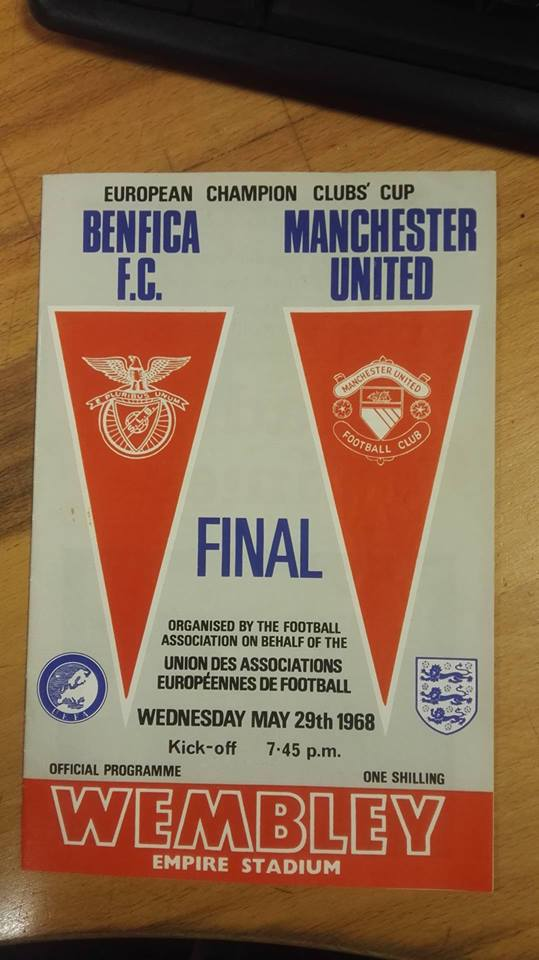 Benfica v Manchester United Programme May 1968