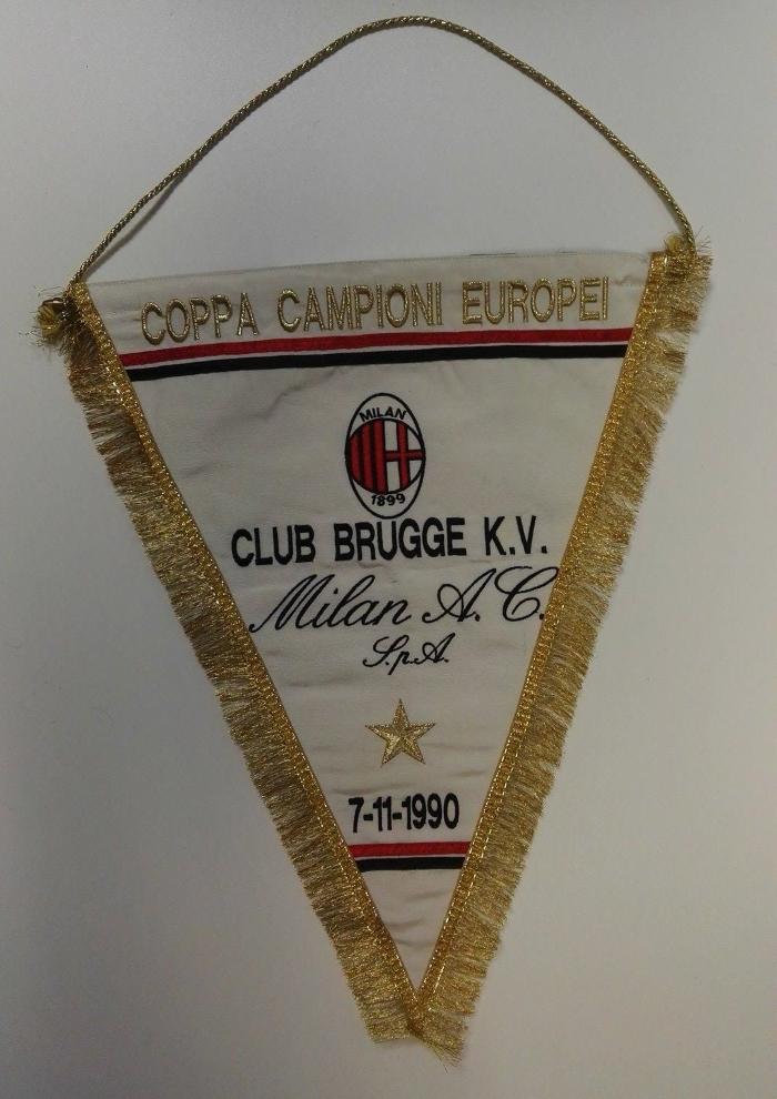 Bruge vs AC Milan 1990 Pennant