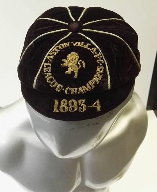 Dennis Hodgetts 1893/4 Aston Villa League Champions Cap