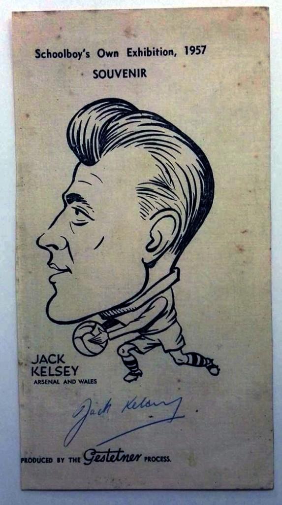 Signed 1957 Jack Kelsey Souvenir
