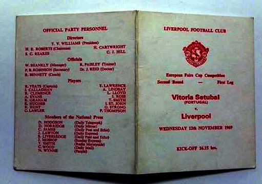 Vitoria Setubal v Liverpool 1969 Player Schedule