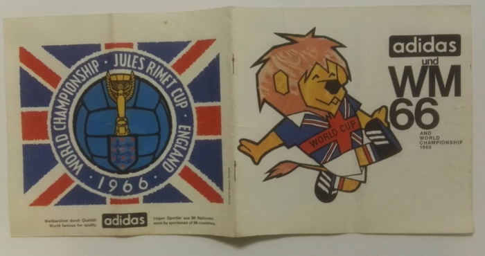 Rare World Cup Willy 1966 Adidas Brochure
