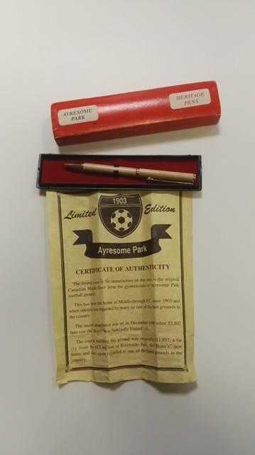 Ayresome Park Canadian Maple Pen National Football