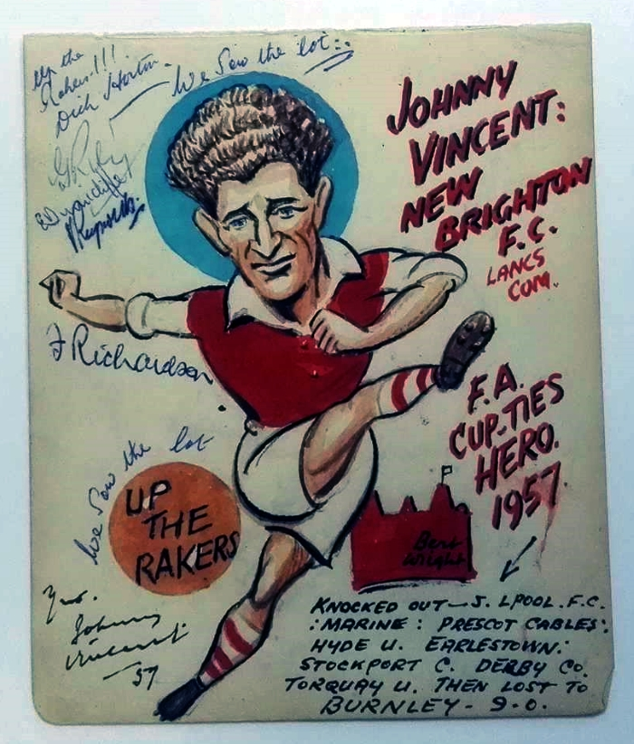 Johnny Vincent New Brighton FC Cartoon 1957