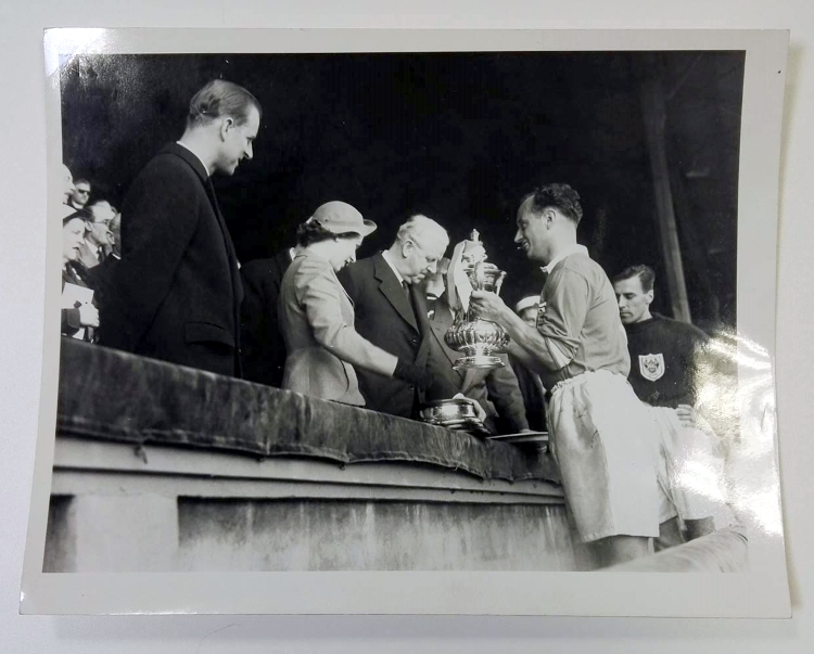 1953 FA Cup Final Press Photo