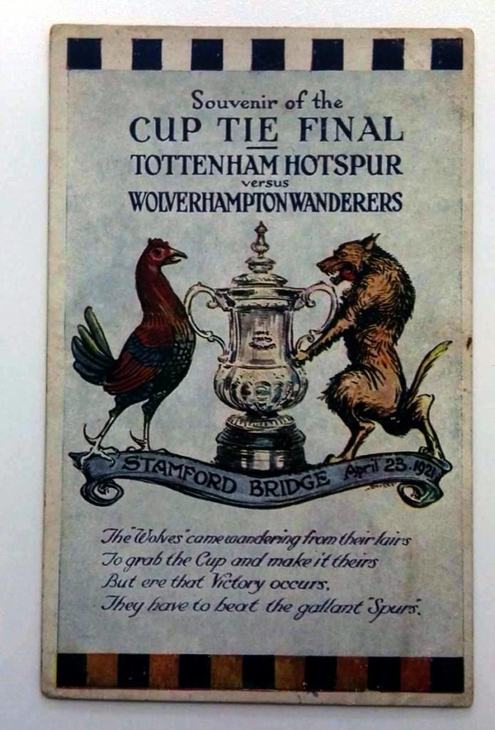 FA Cup Final 1921 Souvenir Postcard