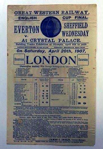 English Cup Final 1907 Great Western Railway Poster