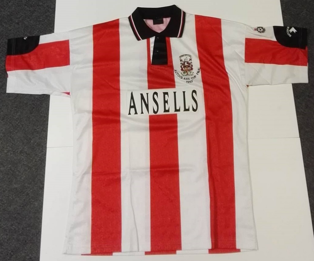 Mark Stein '92 Autoglass Trophy Final Matchworn Shirt