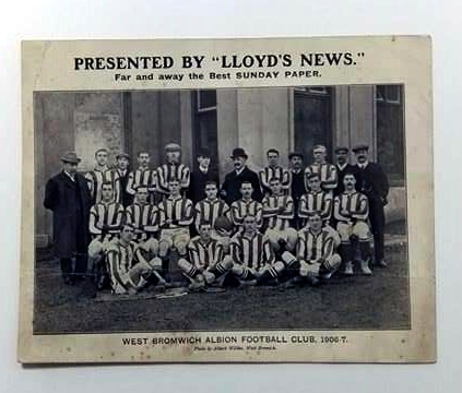 West Bromwich Albion 1907/8 Giant Postcard