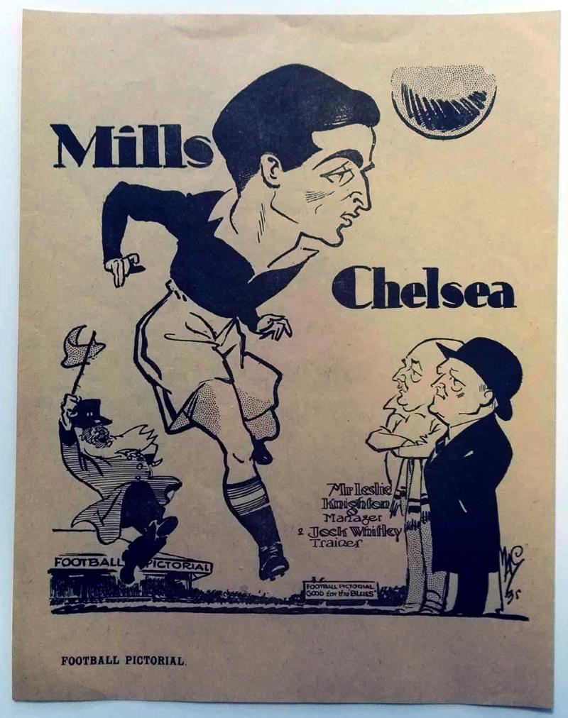 George Mills Chelsea FC Caricature