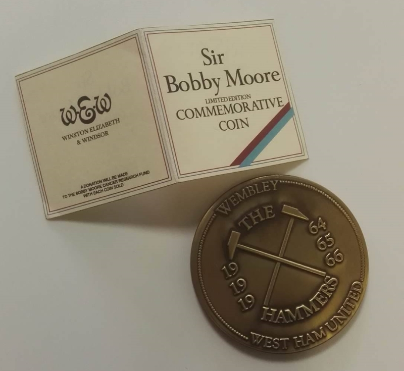 Bobby Moore West Ham & England Commemorative Coin