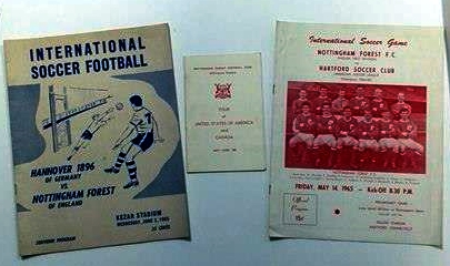 Nottingham Forest America & Canada Tour 1965 Itinerary and Programmes