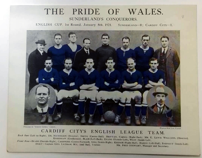 Pride Of Wales Cardiff City Giant Postcard 1921